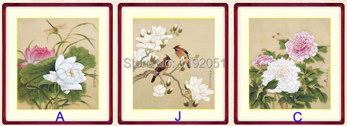 Online buy wholesale birds reproduction from china birds for Cadre floral mural