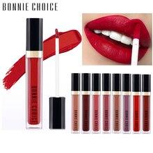 BONNIE CHOICE Lip Gloss Makeup Matte Liquid Lipstick Waterproof Long-lasting Velvet Pigment Cosmetic