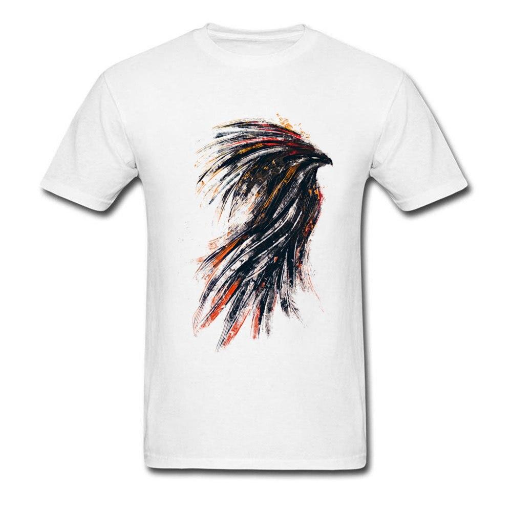 Ink Phoenix Top T-shirts Custom Short Sleeve 2018 Fashion Crew Neck 100% Cotton Fabric Tops Shirt Tee-Shirts for Men Summer Ink Phoenix white