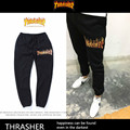 THRASHER Brand Pants Men Women Hip Hop Skateboard Autumn Winter Jogging Off-white Pants Thrasher 100% Cotton Supremo Sweatpants