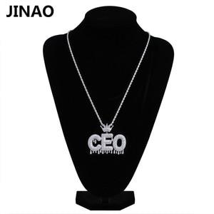 Image 4 - Nome personalizado iced para fora coroa bolha letras pingentes de corrente colares encantos masculinos zircon hip hop jóias cor prata tênis corrente