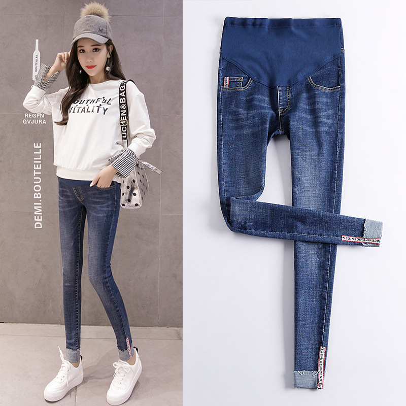 Elastic Waist Stretch Jeans For Pregnant Women Maternity Pants Skinny Jeans Nursing Pregnancy Clothing Pregnant Abdominal Jeans