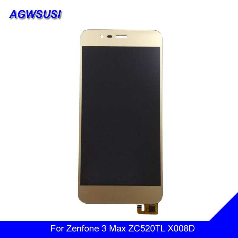 For Asus Zenfone 3 Max ZC520TL Touch Screen Digitizer Sensor Glass Panel + LCD Display Monitor Screen Panel Module Assembly