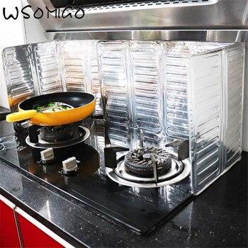 WSOMIGO Creative Vegetable Prevent Oil Splashing Out Vegetable Oil Plate Kitchen Insulation Board Gadget Kitchen Accessories-B vegetable oil epoxidation