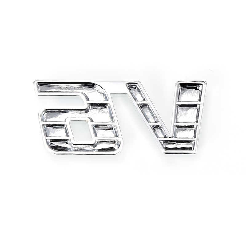 1 pièces 6x2.5 CM universel voiture métal argent V6 Logo 3D décalque Badge emblème autocollant Auto numéro autocollants voiture accessoires voiture autocollant