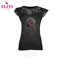 Women s fashion t shirt punk style s 5xl sleeveless lace patchwork printing t shirt tee.jpg 200x200