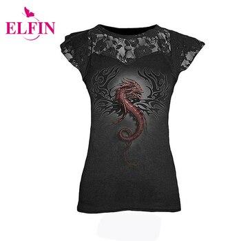 Women s fashion t shirt punk style s 5xl sleeveless lace patchwork printing t shirt tee.jpg 350x350