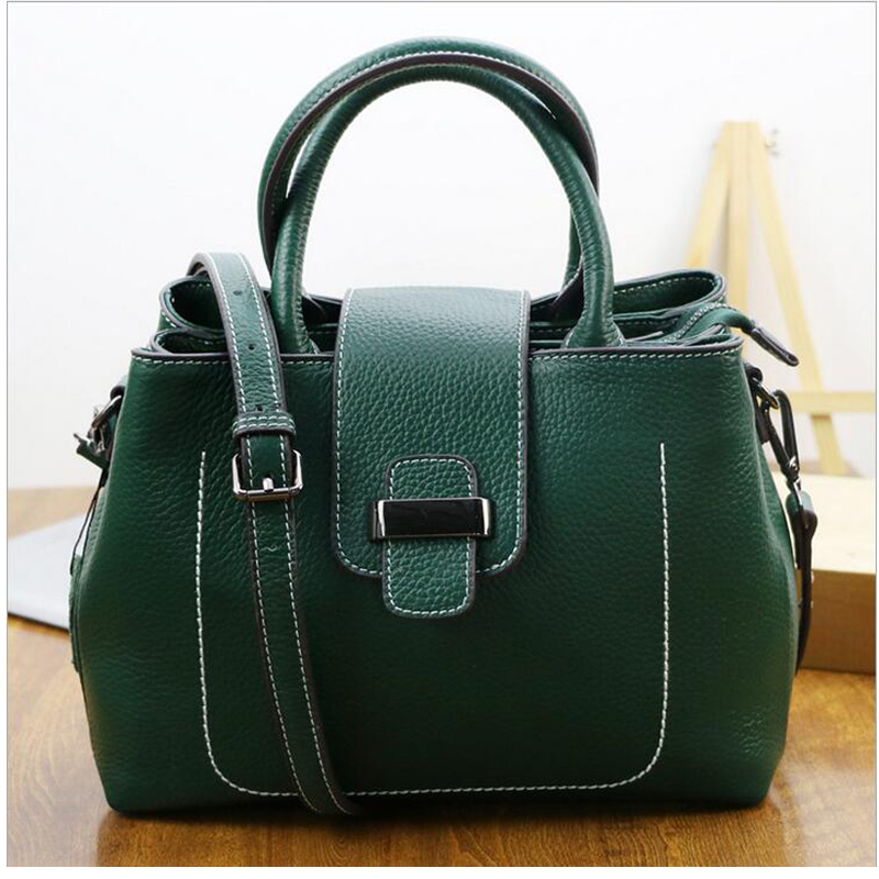 Genuine leather bag famous brands women messenger bags women handbags designer high quality women bag shoulder bag tote Green 2018 soft genuine leather bags handbags women famous brands platband large designer handbags high quality brown office tote bag
