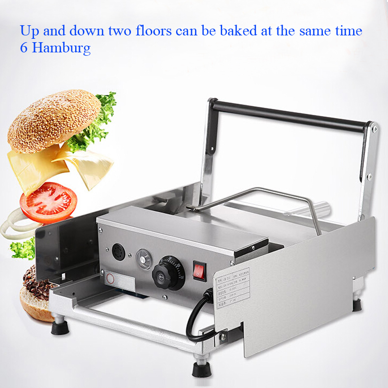 commercial machine board maker innovative bun toaster product electric hamburger item