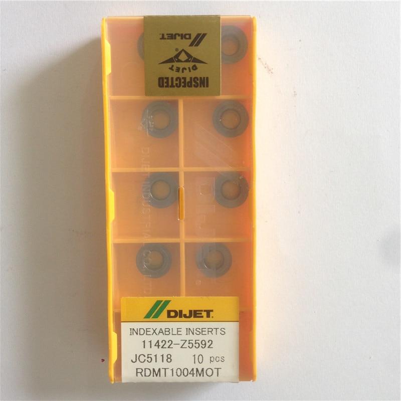 RDMT1004MOT JC5118 Original DIJET Tungsten Milling Inserts 10PCS/LOT  RDMT 1004 MOT JC5118