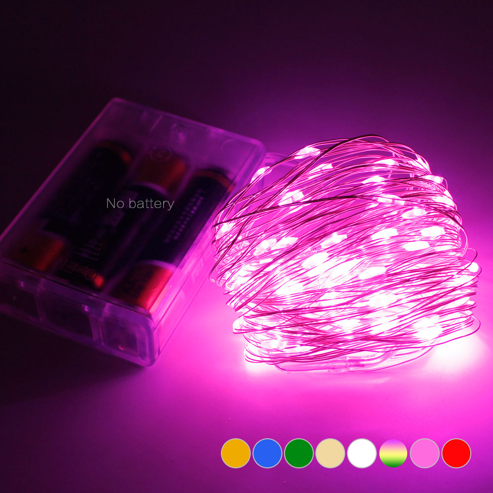 1set 2M 5M 10M Powered By 3AA Battery Decorative LED Copper Wire Fairy String Lights For Christmas Holiday Wedding And Parties