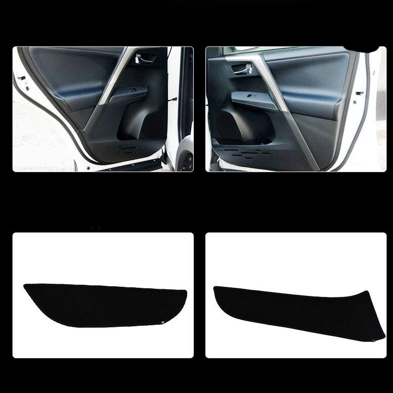 Ipoboo 4pcs Fabric Door Protection Mats Anti-kick Decorative Pads For Toyota Rav4 2013-2015 rav 4 3 door