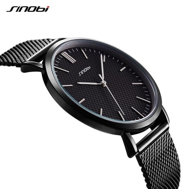 Sinobi Мужские часы лучший бренд класса люкс Бизнес Кварцевые часы мужские наручные часы Relogio masculino ультра-тонкий мужской наручные часы 2018 новый