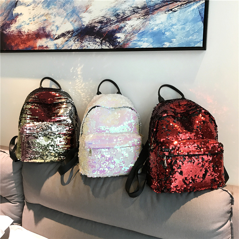 Miyahouse Fashion Colorful Sequins Design Backpack For Teenage Girls Pu Leather Small Backpack Female Shoulder Bag #5