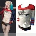 Papai é Lil Monstro T-Shirt tops Joker Trajes Cosplay Traje Harley Quinn Batman Arkham Asylum 2016 Esquadrão Suicida Camiseta