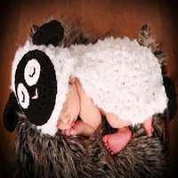 Handmade Pecore Neonato Photography Puntelli Regalo Crochet Della Neonata Cappello Foto Accessori Touca Infantil Maglia Costumi per Bambini