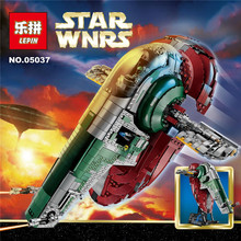 NEW LEPIN Star Wars Slave I Building Blocks Classic For Kids Model Toys Minifigures Marvel Compatible Legoe