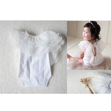 NEW Baby Girl Clothing Lucy Child Cotton Ruffled Rompers Newborn Photography Props Christmas Gift Dress
