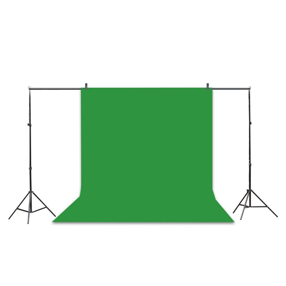 Professional Studio Background Stand Kit - 10x6.5ft Photo Backdrop Support Stand Kit + Backdrop Screen (Black,Green,White) + 2Professional Studio Background Stand Kit - 10x6.5ft Photo Backdrop Support Stand Kit + Backdrop Screen (Black,Green,White) + 2