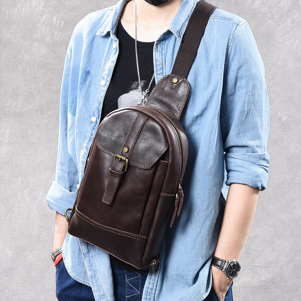 man's messenger bag Men shoulder Genuine leather Chest Bags Travel Crossbody business Messenger bags Male Handbag men shoulder bags genuine leather vintage male business messenger bags vogue multifunction casual travel crossbody pack rucksack
