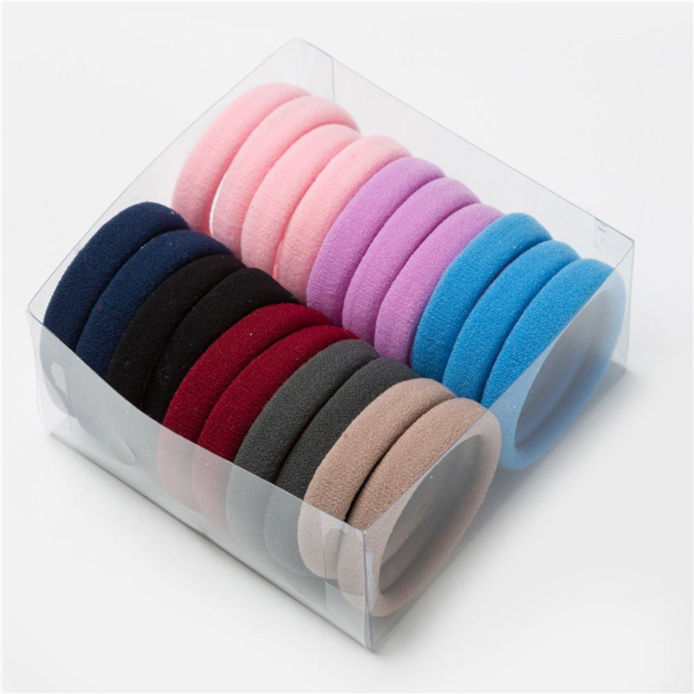 20Pcs Hairdressing Tools Black Rubber Band Hair Ties/Rings/Ropes Gum Springs Ponytail Holders Hair Styling Tools