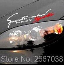 Sport auto-styling licht augenbrauen aufkleber dekorative for Mitsubishi Grandis Outlander Pajero LancerEvo Eclipse accessories