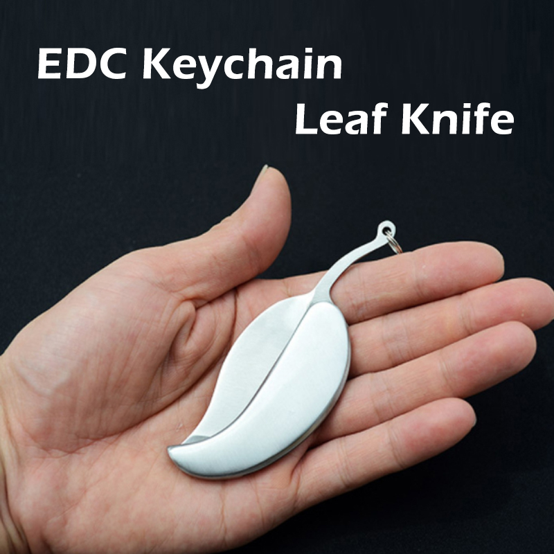 Outdoor Stainless Steel Leaf Knife Portable Tool Mini Fruit Knife Pocket Folding Knife Survive kit Camping Hiking Wholesale high speed steel tool production wholesale beads fine tooth knife 5 60mm bead rosary beads knife knife plus hardwood