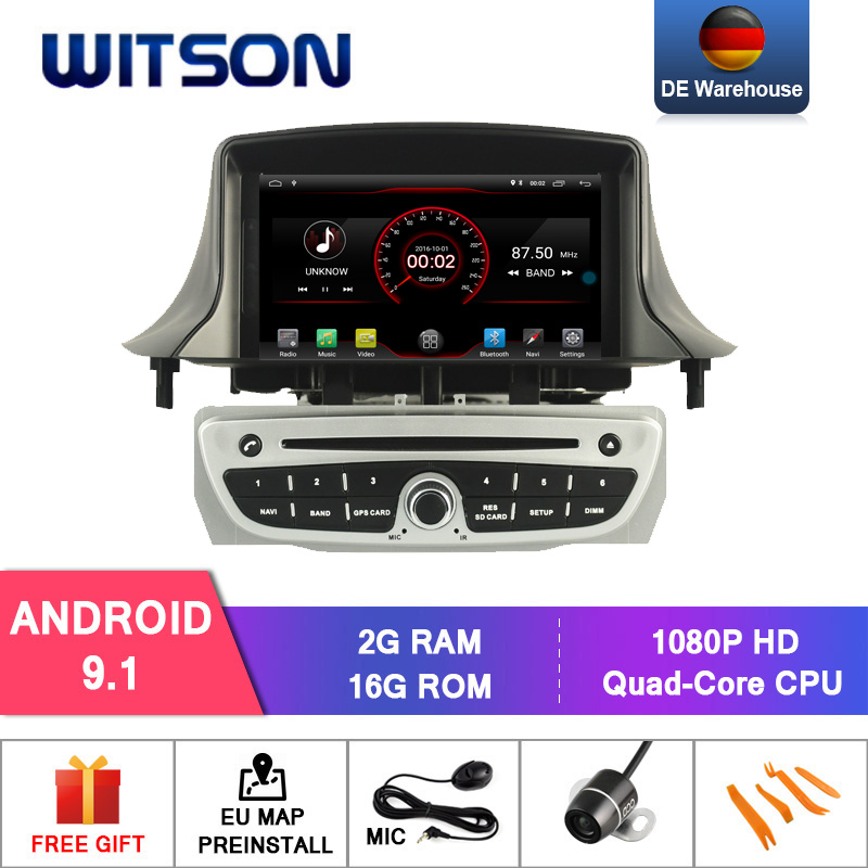 WITSON Android 9.0 Octa  core (Eight core) 4G RAM CAR DVD PLAYER GPS For RENAULT Megane III 2009 2011 car audio system gps radio-in Car Multimedia Player from Automobiles & Motorcycles    1