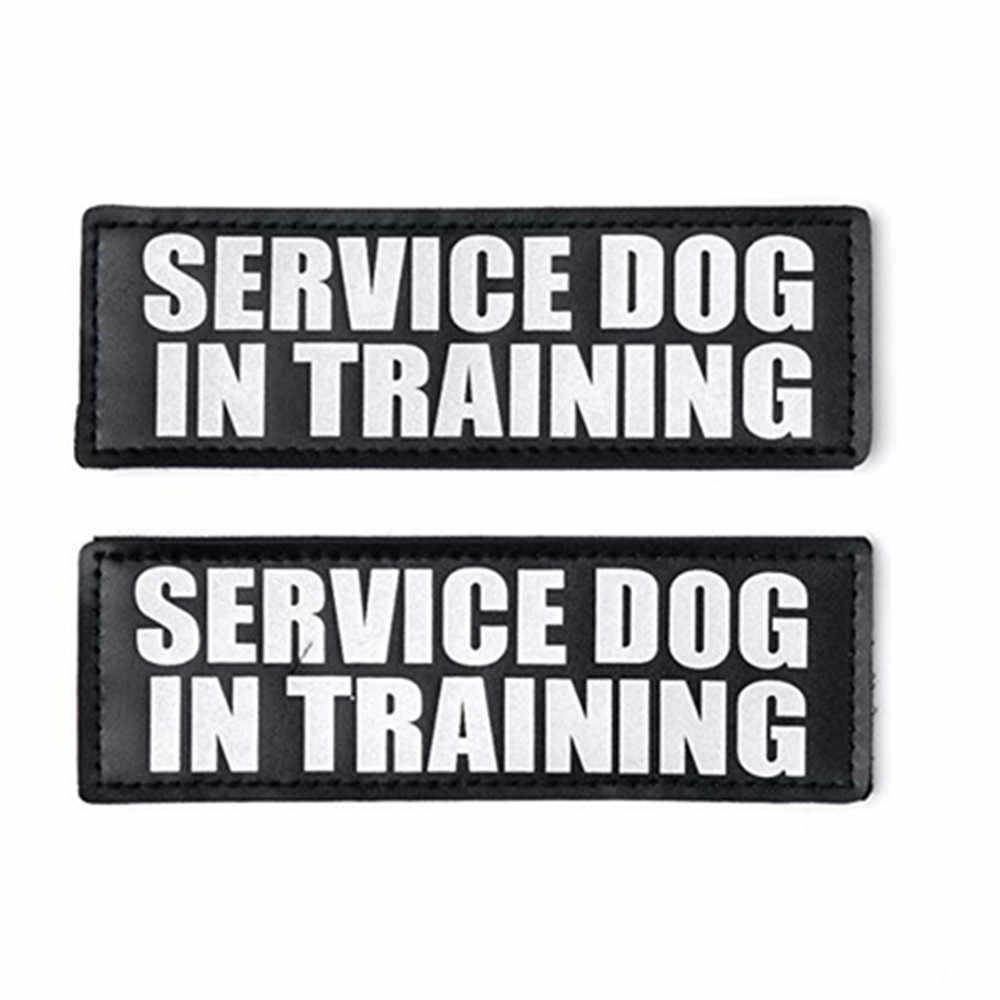 Servicio de mascotas perro en servicio de entrenamiento perro en entrenamiento o terapia perro en entrenamiento parches con figuras de perros para arnés chaleco