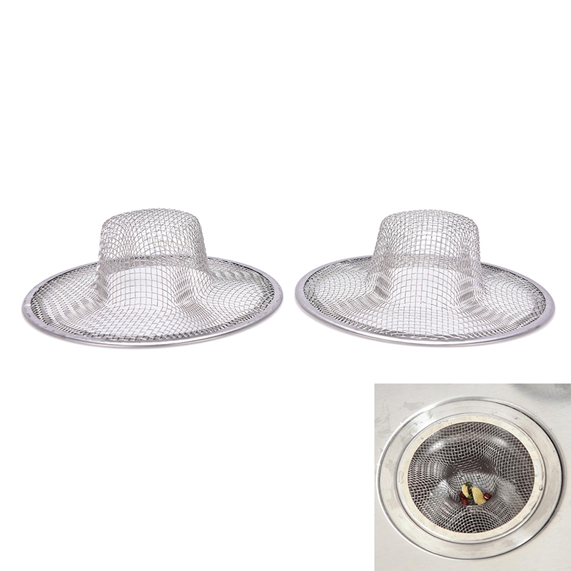 2 Pcs Stainless Steel Kitchen Appliances Sewer Filter Barbed Wire Waste Stopper / Floor Drain Sink Strainer Prevent Clogging