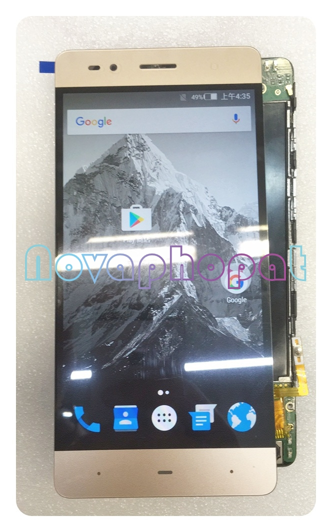 Novaphopat Tested Black/White/Golden LCD Screen for Highscreen Power ICE Evo LCD Display Touch Screen Digitizer Sensor Assembly