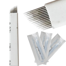 50PCS 12 Needles Microblading Eyebrow Tattoo Blade Accesories For Permanent Makeup Manual Pen 3D Eyebrow Embroidery