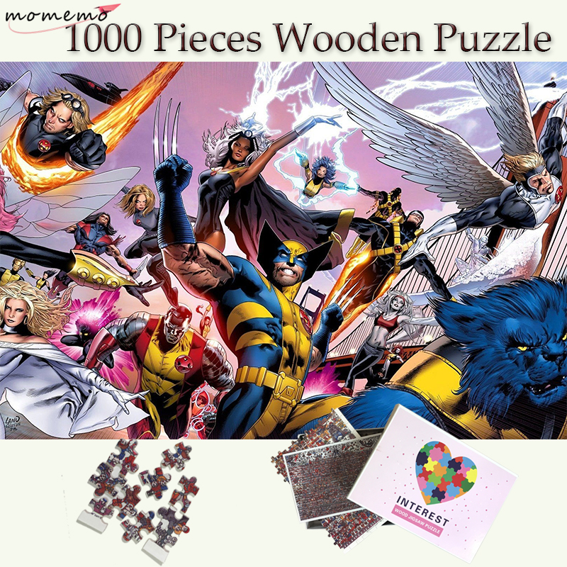 MOMEMO X Men Wooden Puzzle 1000 Pieces Super Heroes Series Jigsaw Puzzles Toys Adults Puzzle Games