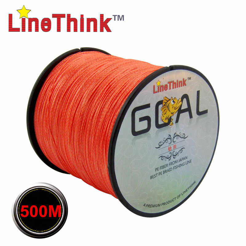 300M 500M Merk LineThink GOAL Japan Multifilament 100% PE Gevlochten Vislijn 8LB om 100LB 100M Gratis verzending
