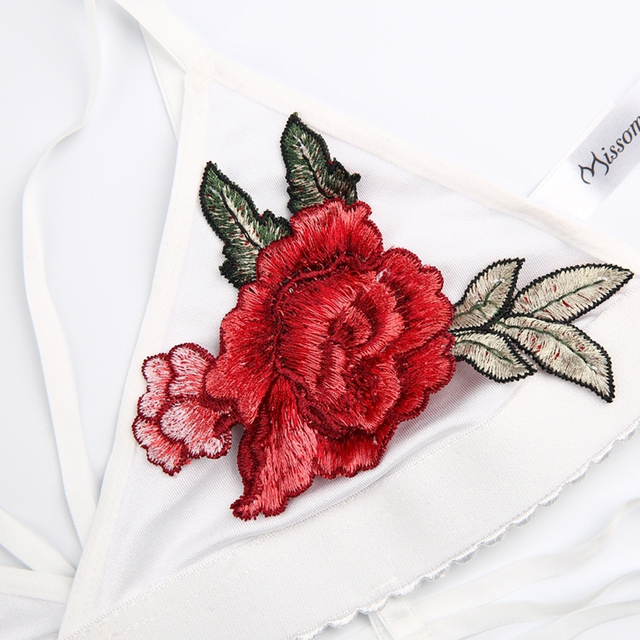 Missomo 2017 New Fashion Women White Sexy Elastic Embroidery Wireless Female Bralette Underwear Soft Trim Breathable Flower Bra
