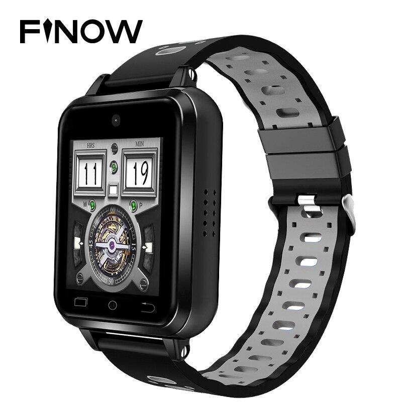 Finow Q1 Pro 4G smart watch Men Kids MTK6737 Android 6.0 1GB/8GB relogio inteligente SmartWatch Phone Support replaceable strap new garmin watch 2019