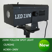 2016 new arrive 230W follow spot light wedding stage six colors follow light  free shipping