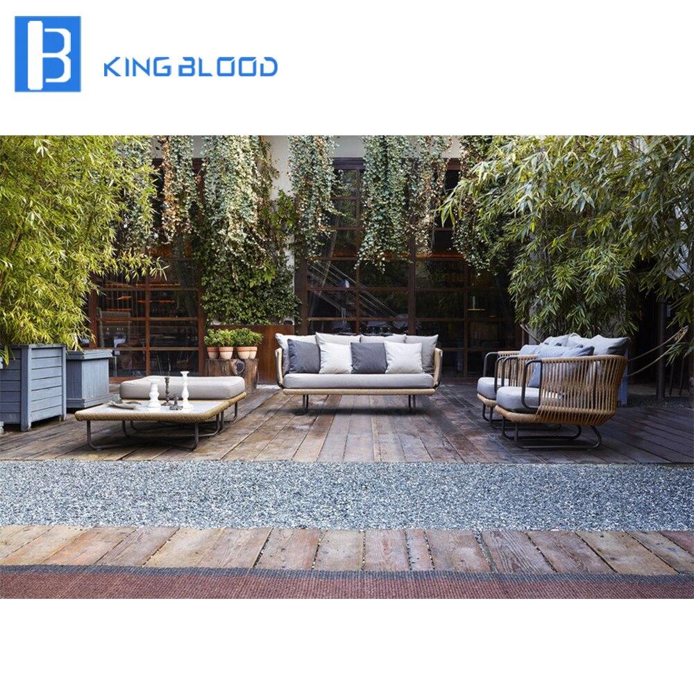 Новый продукт наружная алюминиевая мебель садовая веревка диван