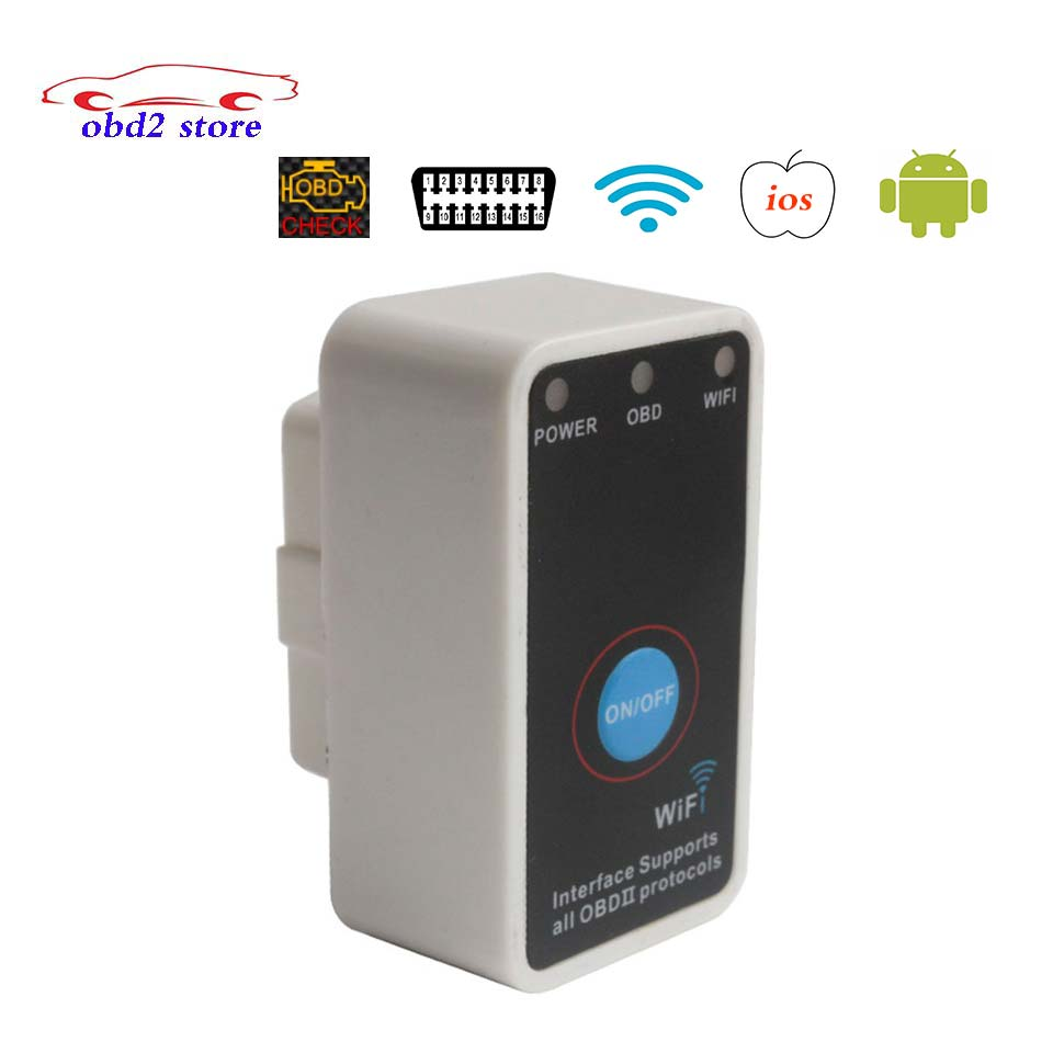 Newest Elm327 Wifi Obd2 Car Diagnostics Scanner Elm 327 Wi-fi Obdii Wireless IOS Android Auto Code Reader Diagnostic-Tool single board pcb obd2 interface obdii diagnostics vd tcs cdp bluetooth usb cable full 8car cables for car and truck generic 3in1