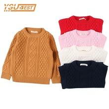 Осенние свитера для маленьких мальчиков и девочек; детские свитера; Зимний вязаный свитер для мальчиков; рваные свитера для девочек; зимняя одежда для маленьких девочек и мальчиков