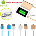 New Fashion 2.4A Nylon Micro USB Android Charger Cable Magnetic Adapter For Samsung HTC LG Android Phone VCY49 P0.3