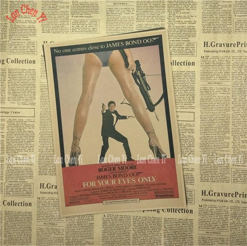 James Bond 007 Serie 1 Klassisk Film Kraftpapper Poster Vintage - Heminredning - Foto 6
