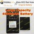 Mlais M52 Rojo Batería Nota 100% Original de Gran Capacidad de 4600 mAh Reemplazo del Li-ion para Mlais M52 Rojo Nota Smartphone