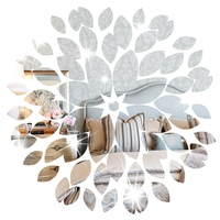 Top Selling 1 Set 3D DIY Flower Home Kids Child Room Ceiling Mirror Wall Sticker Art