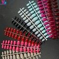 Wholesale New Arrive Professional Short False Nail Art Tip 12 Colors 50pcs/set Tips Unha Em Gel BlueSky Fake Nails Manicure Set