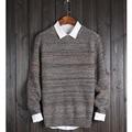 Suéter de Los Hombres 2017 Marca Flor de Lana Tejido De Punto Suéter Masculino O-cuello Slim Fit Knitting Suéteres Para Hombre Hombre Pullover Hombres XXL