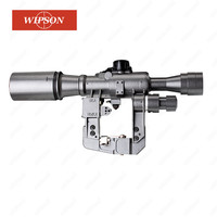 WIPSON Tactical POS 6X36 1 Red Illuminated SVD AK Rifle Scope Sniper Hunting RifleScope