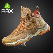 RAX Men's Waterproof Hiking Shoes Cushioning Antislip Climbing Trekking Mountaineering Shoes for Men Outdoor Multi-terrian Shoes