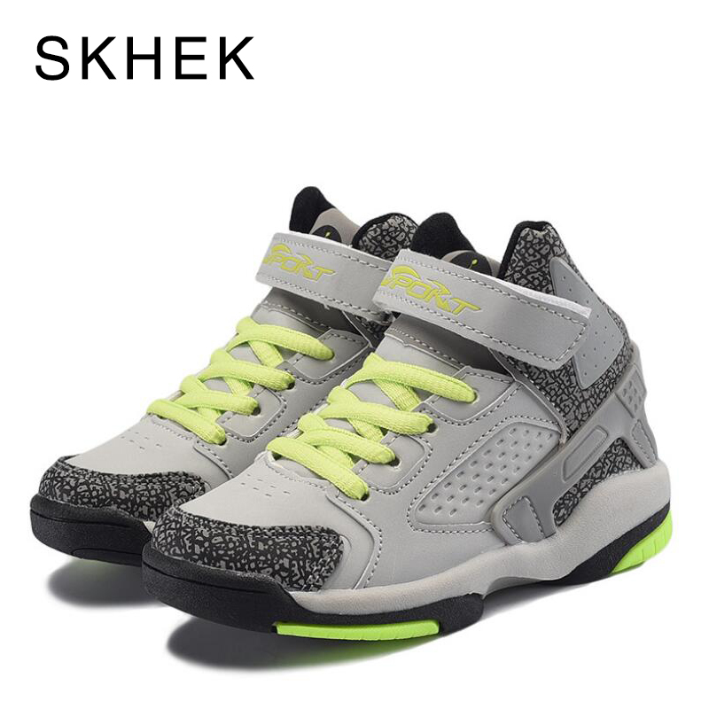 SKHEK Children Casual Shoes Elastic Lace Light Weight Kids Shoes Boys Girls Sneakers Breathable Sport Shoes EU 25-36