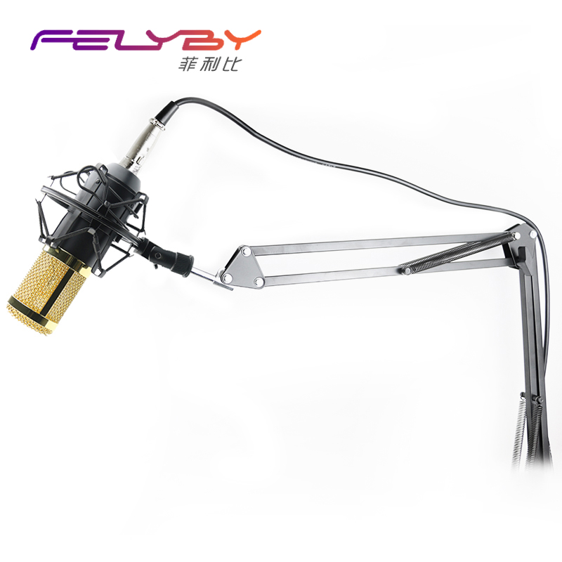 Professional KTV Microphone BM800 Condenser Microphone Pro Audio Studio Vocal Recording Mic KTV Karaoke Metal Shock Mount MB 800  professional switch dynamic wired microphone stand metal desktop holder for beta 58 bt 58a ktv karaoke mic microfone audio mixer